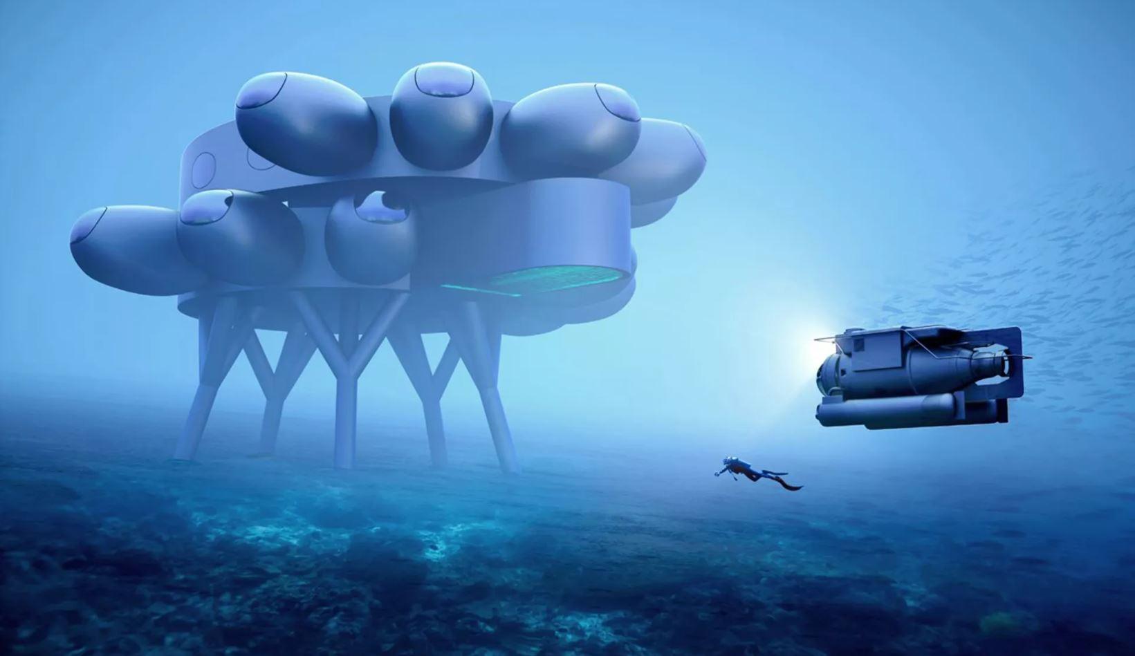 Han diseñado una estación espacial «submarina» ¡y es impresionante!
