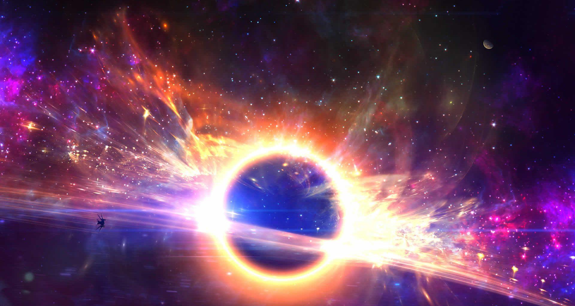 ¿Qué pasaría si un agujero negro cayera en un agujero de gusano?