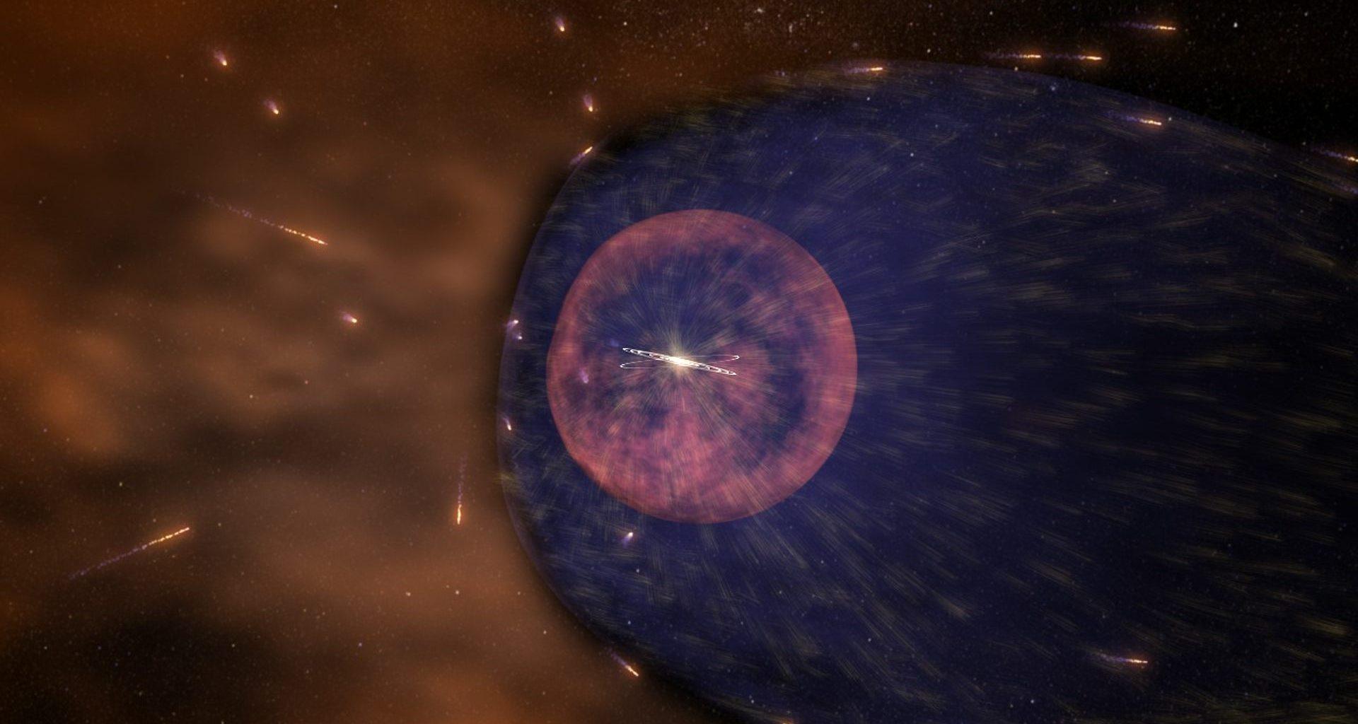 NASA observó la «burbuja» alrededor del Sistema Solar