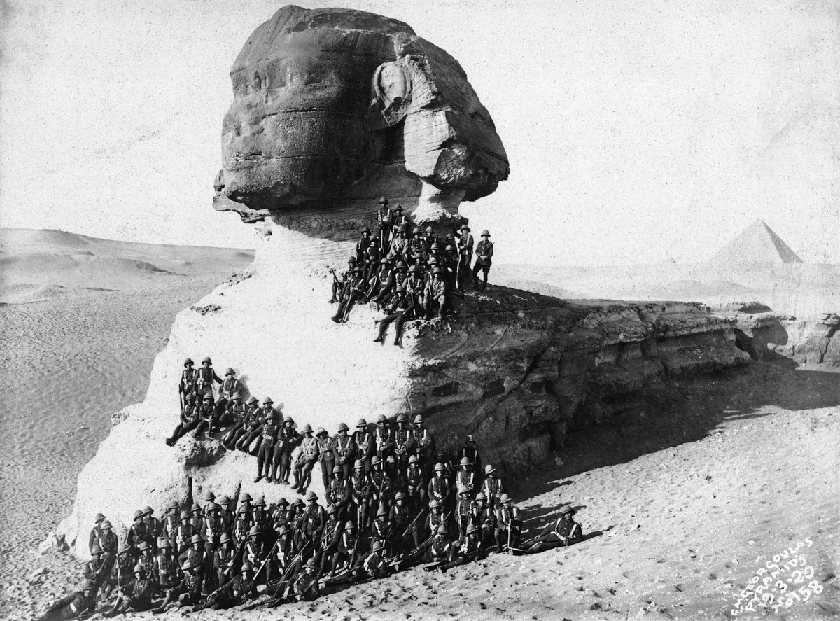 Las 10 fotografías antiguas más impresionante de la Gran Esfinge