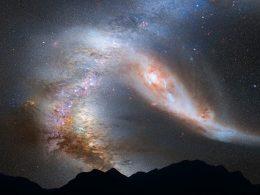 Halo de la galaxia Andrómeda ya está chocando con el de la Vía Láctea