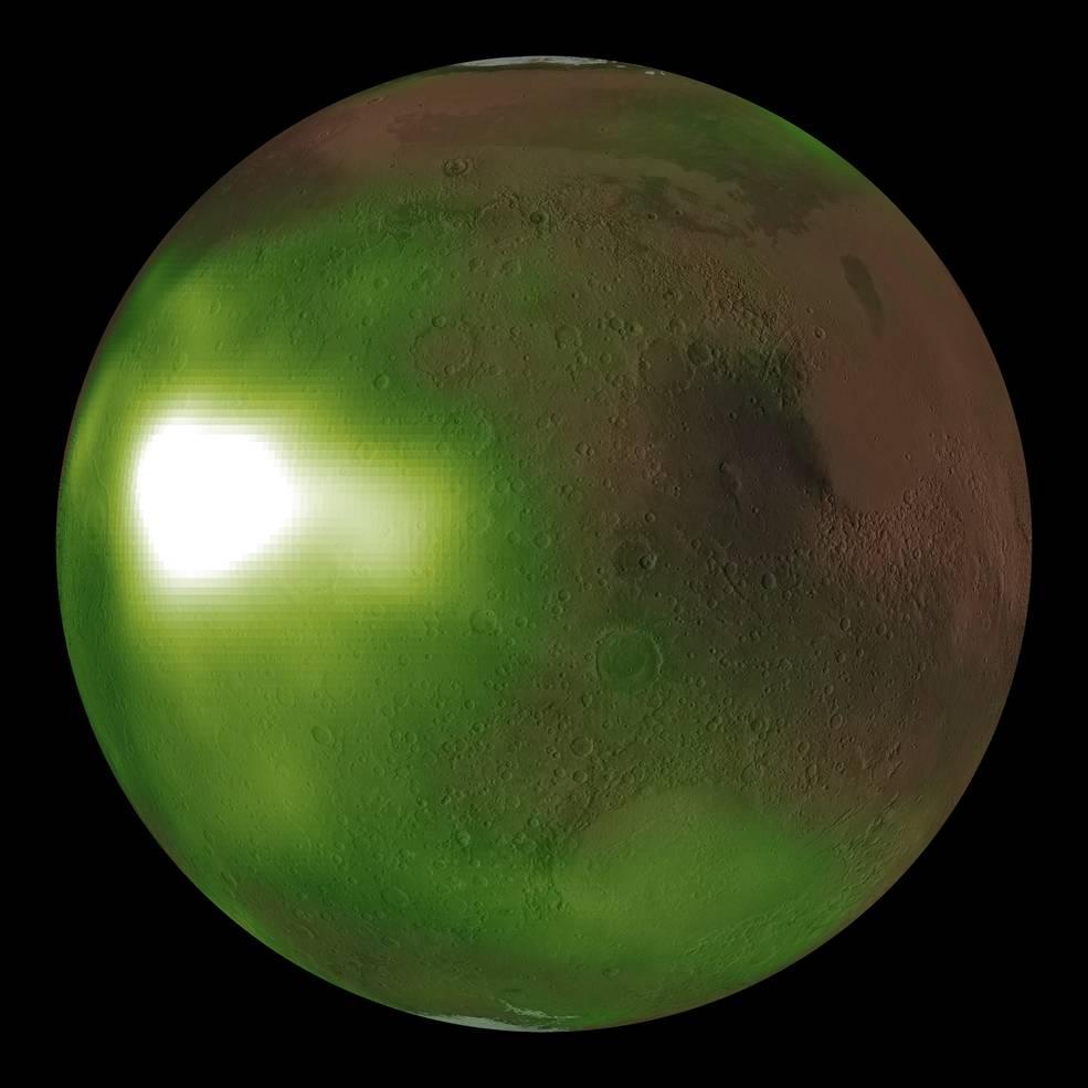 Un misterioso «resplandor verde» en la atmósfera de Marte