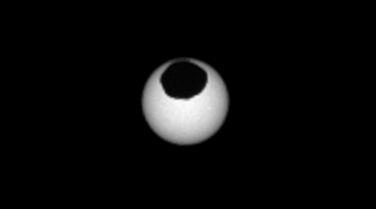 Algo muy extraño ocurrió en Marte durante su último eclipse lunar