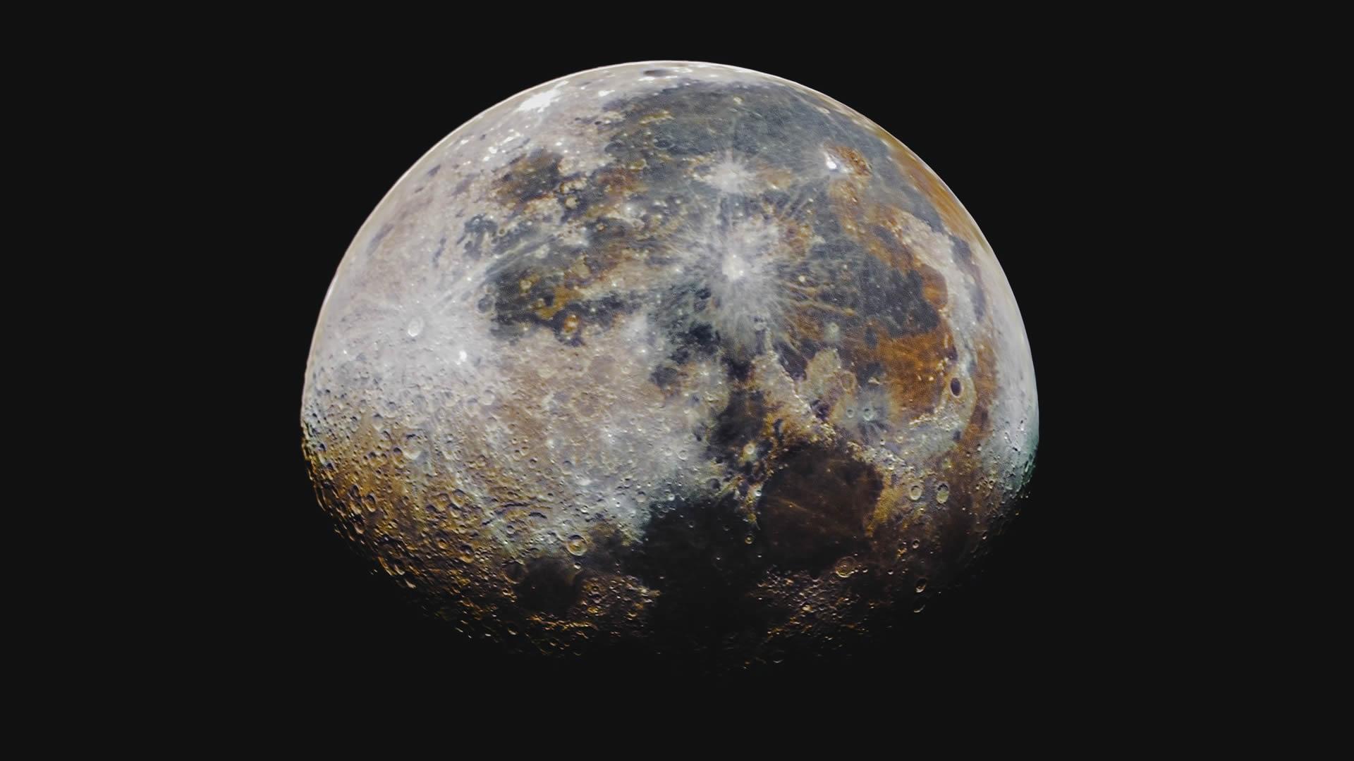 La Luna se está oxidando y se está volviendo ligeramente roja – Cronosmos