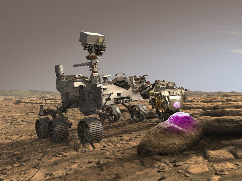Rover Perseverance buscará fósiles alienígenas usando rayos X en Mate