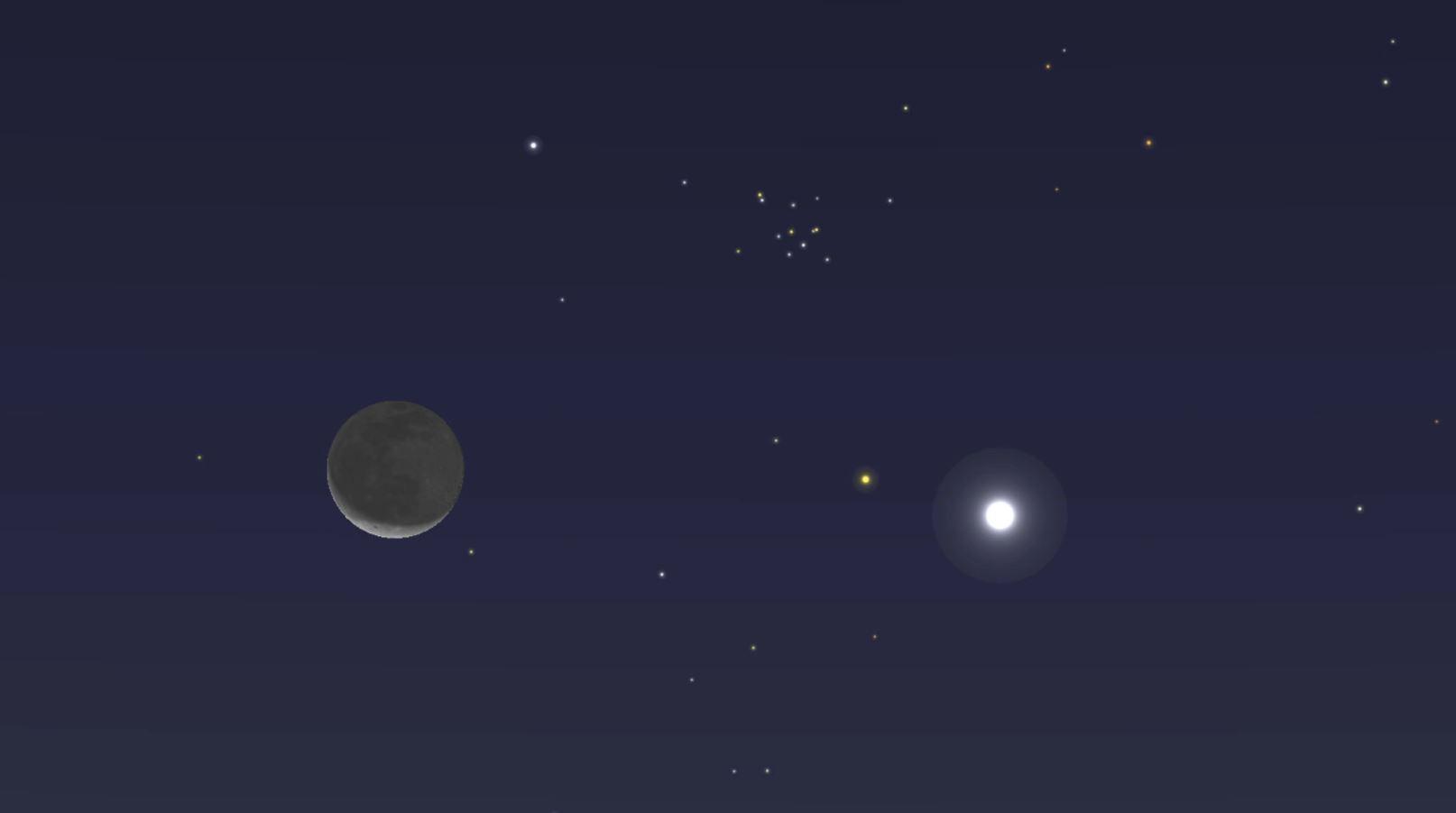 Mira a Venus junto a la Luna este lunes antes del amanecer