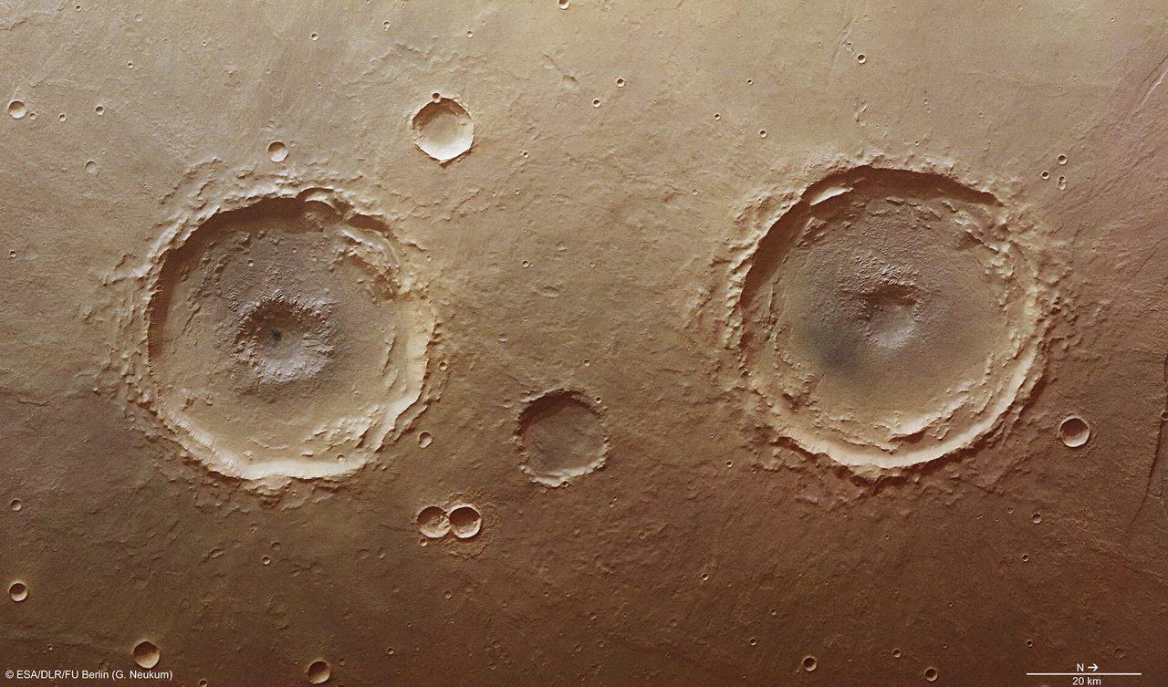 Nuevos cráteres de Marte son identificados por inteligencia artificial
