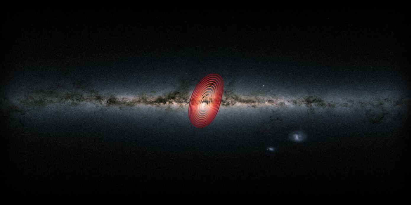 Hallan una galaxia oculta en el interior de la Vía Láctea