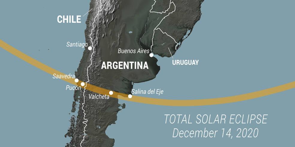 HOY: Eclipse Solar Total en Sudamérica