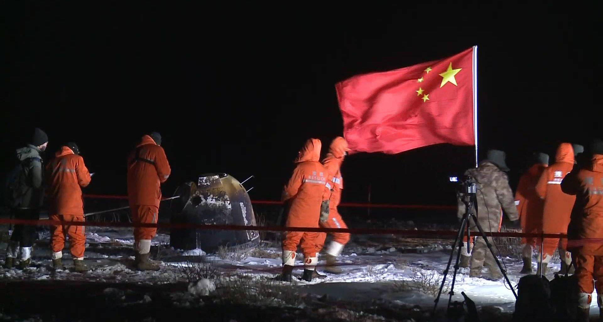 Sonda china trae las primeras muestras de la Luna en décadas (Video)