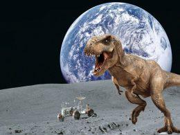 Es probable que hayan restos de dinosaurios en la Luna