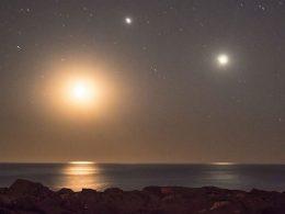 Este fin de semana: triple conjunción de Júpiter, Saturno y Mercurio