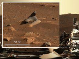 Esta y otras extrañas rocas en Marte han intrigado a científicos del rover Perseverance