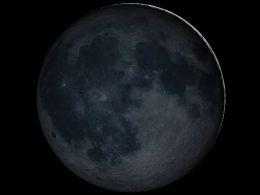 Hoy: Luna Nueva en el cielo nocturno