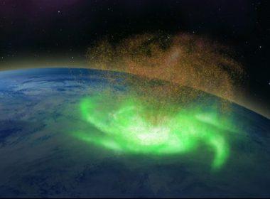 """Detectan el primer """"huracán espacial"""" sobre el Polo Norte"""