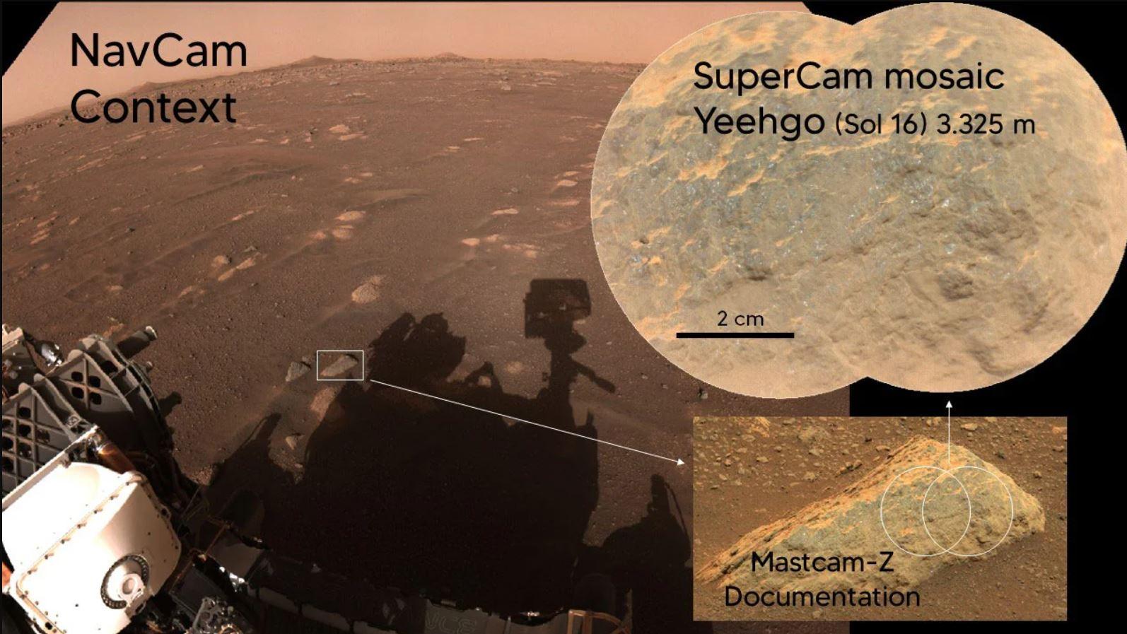 Perseverance busca vida en Marte