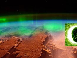 Llegan nuevas imágenes asombrosas de auroras en Marte