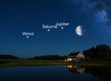 Mira la Luna junto a tres planetas en la puesta de Sol desde HOY